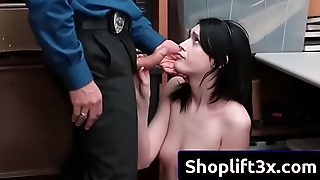Ivy Aura sucking mall cop and then get banged