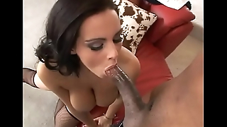 Busty bitch Natasha Nice enjoying big black cock in her tight cunt