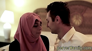 pervertfamily- muslim teen in hijab wants western stepbrothers cock