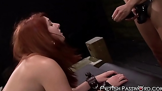 Teen slave Rose Red dominated and toyed by lesbian mistress