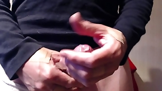 My solo 121 (Hard cock in condom and filling in the money take cum)