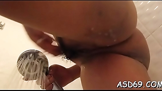 Perverted thai beauty enjoys riding a pecker and getting height