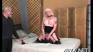Nude woman spanking movie with bizarre bondage