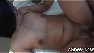 Thai girl grinds on a dong and gets hose down anent her pussy and anal