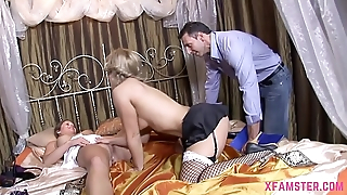 Sexy Filly Stepsister loves to be made horny soon get love box fucked long off out of one's mind stepdads big pecker