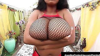 Cuban Angelina Castro Oils Up &amp_ StrapOn Fucks Ebony Maserati