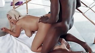 Bridgette B getting romp from behind doggystyle by a horse cock!
